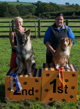 Winners of charity dog show